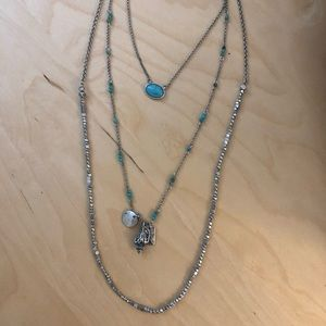 Lucky Brand Turquoise Layer Necklace
